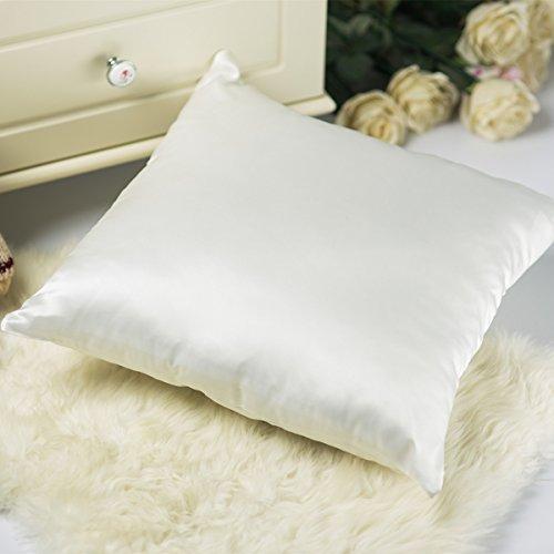 Satin Throw Pillow - Tim & Tina Silk Satin Square Decorative Throw Pillow Case Cushion Cover (18