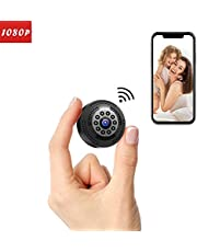 Victure 1080P FHD Mini Spy Camera Wireless Hidden Cam Rechargeable Portable Camera with Motion Detection and Night Vision for Indoor Outdoor Home Security Surveillance