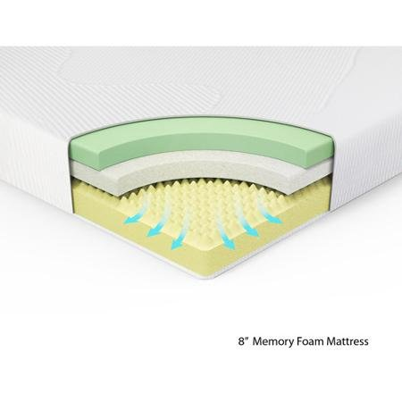 Spa Sensations 8'' Memory Foam Mattress, (Twin) by Spa Sensations (Image #2)