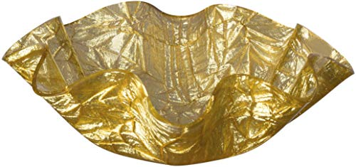 (Tehila Collection Lucite Serving Bowl, Gold Textured Crumple Pattern, 13-1/4 Inch x 4-1/4 Inch.)