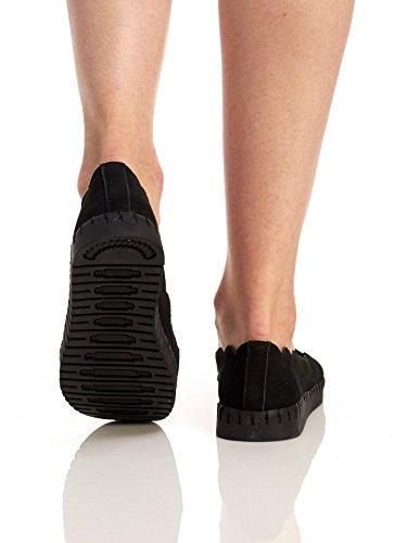 Bernie Mev Vrouwen Tw73 Schoenen Zwart Nubuck