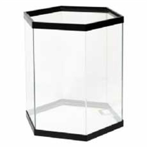 All Glass Aquarium AAG50007 Pine Hexagon Aquarium Stand, 35-Gallon, Black
