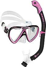 Cressi Ikarus & Orion Kits máscara Tubo, Adultos Unisex, Transparent/Black/Pink, Un tamaño