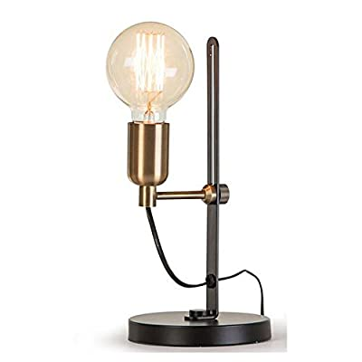 Kiven Industrial Simple Adjustable Design Edidon Table & Desk Lamp Antique Metal Bedroom Light