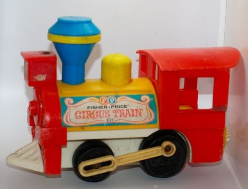 Vintage Little People - VINTAGE Fisher Price #991 Little People Play Family Circus Train