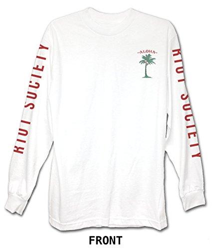 Riot Society Aloha Island Men's Long Sleeve Graphic - White, XX-Large
