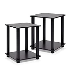 This Simplistic Series end table two-piece set is designed to fit in your space, your style and fit on your budget. This unit is so simple, both in design and assembly. It uses the Turn-S-Tube mechanism to assemble the unit in 5 minutes. It i...