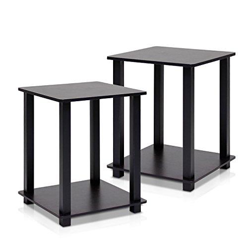 Furinno Simplistic End Table, Espresso Black