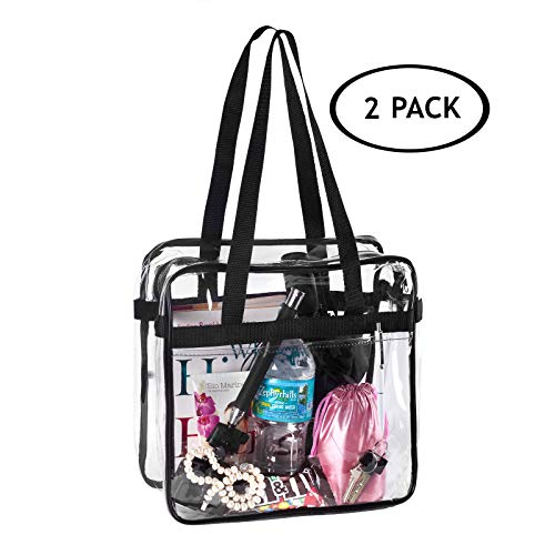 Top 10 recommendation clear stadium bag 12x6x12 with zipper for 2019