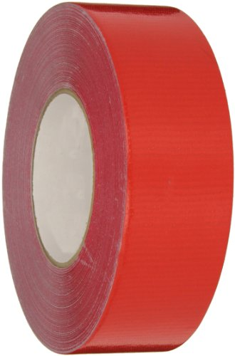 Nashua 357 Polyethylene Coated Cloth Premium Duct Tape, 55m Length x 48mm Width, Red - Polyethylene Coated Cloth Duct Tape