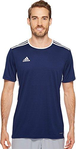 adidas Mens Soccer Entrada 18 Jersey, Dark Blue/White, Large