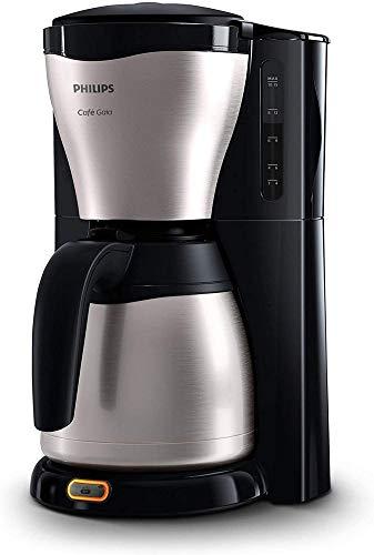 Philips HD7546/20 - Cafetera de goteo cafe Gaia, 1000 W, jarra termica con capacidad para 10-15 tazas, color plata