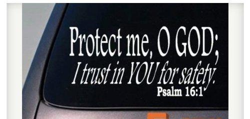 "Price comparison product image Protect Me O God Psalm 16:1 Sticker 6"" Decal Christian God Church Love Faith Jesus *C934*"