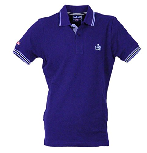033 purple Piqué Polo Viola Man Admiral Sportswear Violet Melanzana Logo Aubergine BpOnxqSw