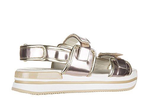 Hogan sandales femme en cuir h257 fasce strap rose