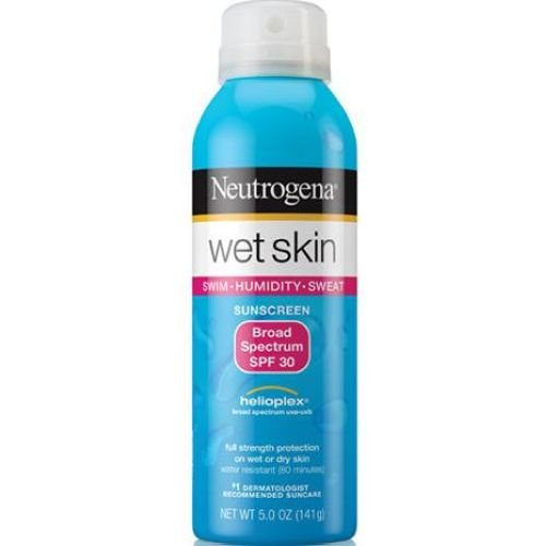 Neutrogena Broad Spectrum SPF 30 Wet Skin Sunscreen Spray, 5 Ounce -- 12 per case. by Neutrogena