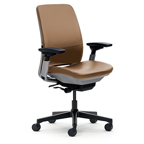 Amazon Com Steelcase Amia Chair Camel Leather Kitchen