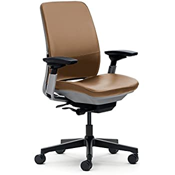 Steelcase Amia Chair, Camel Leather