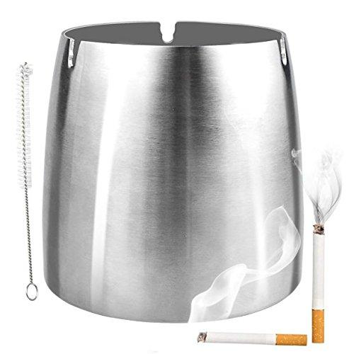 GikPal Cenicero a Prueba de Viento Grande para Cigarrillos Ceniceros al Aire Libre para Patio Precioso cenicero de Mesa sin Humo de Acero Inoxidable para el hogar/Oficina