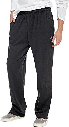 Champion Authentic Men's Open Bottom Jersey Pants_Black_Large
