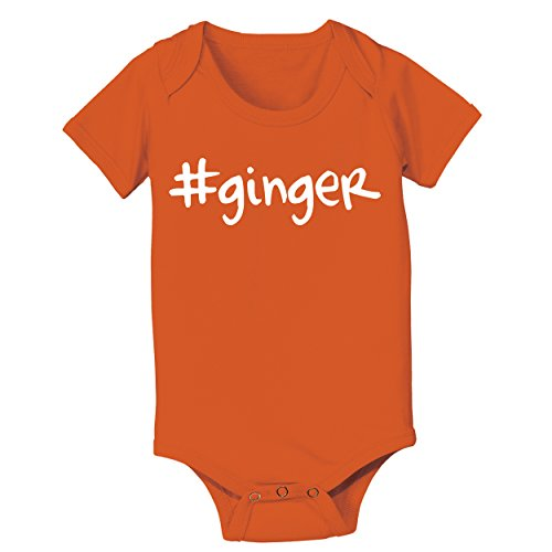 Funny Threads Outlet Hashtag Ginger Redhead Baby One Piece Newborn Orange by Funny Threads Outlet