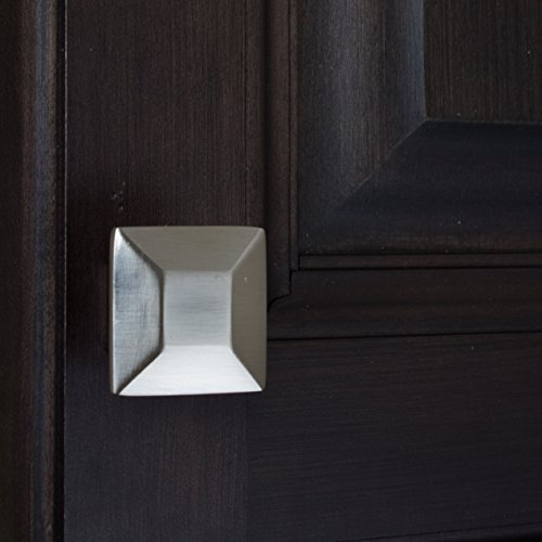 GlideRite Hardware 5101-SN-100 1.375 inch Satin Nickel Square Cabinet Knobs 100 Pack by GlideRite Hardware (Image #3)