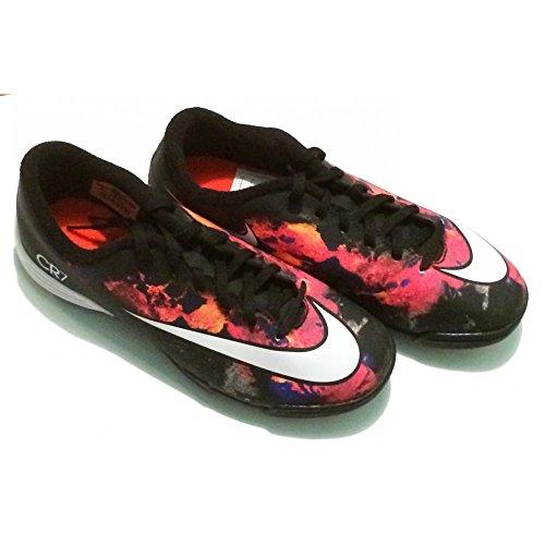 Nike Mädchen Jr Mercurial Vortex II CR TF Turnschuhe Schwarz / Weiß / Orange (Schwarz / Weiß-Gesamt Hochrot)