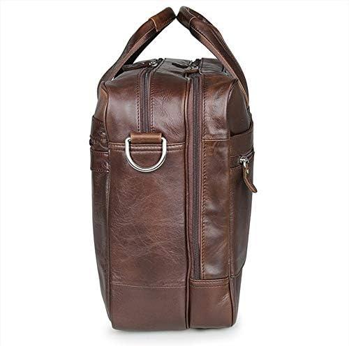 ドキュメント用メンズブリーフケースハンドバッグバッグ男性ビジネスポートフォリオ男性レザートラベルラップトップバッグ