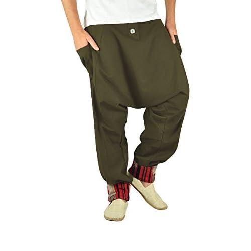 Cómodos pantalones cagados para hombres y pantalones bombachos en moda  étnica ropa hippie de virblatt M 66f662c483e7