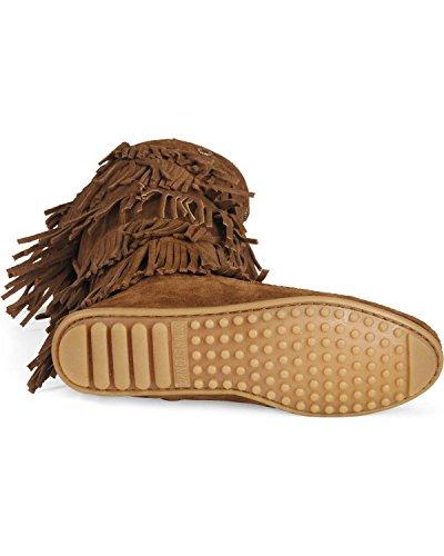 Brown Dusty Layer Women's Fringe Minnetonka Boot Suede xUwT4Axq7W