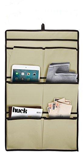 (Set of 3) 6 Pocket Hanging Wall-Door Organizer/Hanging Storage Bag Organizer, Canvas (Size: 14.5'' x 23.5'')