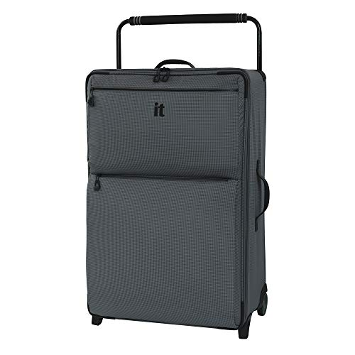 IT Luggage 32.7″ World's Lightest Los Angeles 2 Wheel Suitcase, Charcoal Grey, One Size
