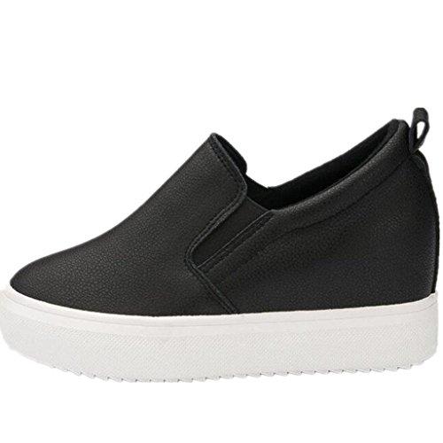 Black Ocio Movimiento Permeabilidad Tres Pequeños Cómodo Blancos Nvxie Aumento Zapatos Interno Colores Estudiantes Señora qnCBI1ZwO