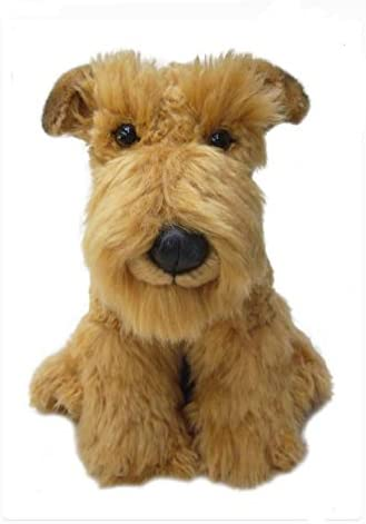 This Is Fine Dog Stuffed Animal, Amazon Com Sawley Fine Arts Plush Dog Airedale Soft Terrier Dog 12 Inch Collectible Toy Stuffed Animal Toys Games