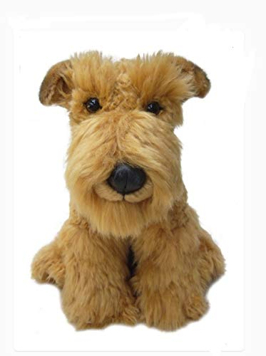 sawley fine arts Plush Dog Airedale - Soft Terrier Dog - 12 inch Collectible Toy Stuffed Animal