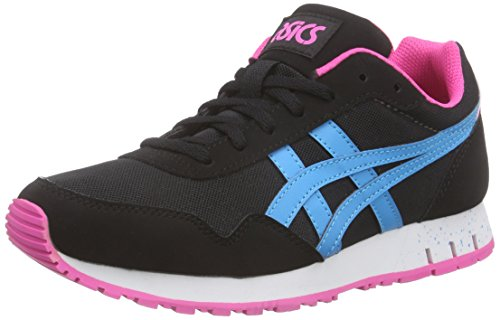 Asics Curreo, Baskets Basses Mixte Adulte, White Noir (black/atomic Blue 9039)