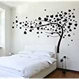 Wall Decal Tree Branch Hearts Leafs For Bedroom Vinyl Sticker VS3620