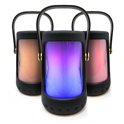 iHome iBT91 Splashproof Color Changing Rechargeable Bluetooth Lantern Speaker with Built-In USB Power Bank