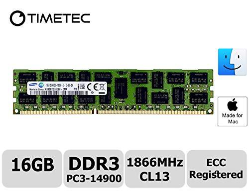 Timetec Original M393B2G70EB0-CMA Compatible for Apple 16GB DDR3 1866MHz PC3-14900 Registered ECC RDIMM Server Memory RAM Module Upgrade for Mac Pro Late 2013 A1481 MQGG2LL/A MD878LL/A ME253LL/A(16GB)