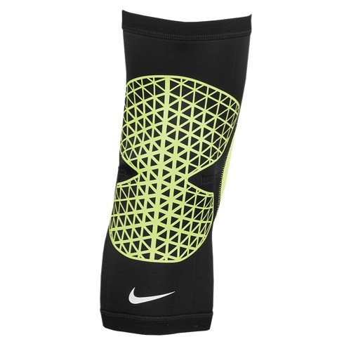 Nike Pro Combat Hyperstrong Knee Sleeve (L, Black/Volt)