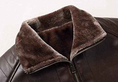 Casual Faux Parka Thicken Coat Leather Men's Apparel Bomber Warmth Pu Warm Fleece Coat Huixin Schwarz Jacket Men's Winter Fur Field AT7wnfxxqB
