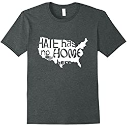 Mens Hate Has No Home Here Anti-Racism T-shirt 3XL Dark Heather