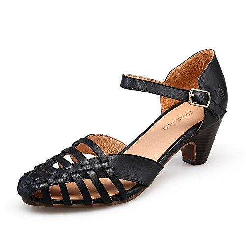 EU34 High Zapatos Impermeable Roman Zapatos Mujer Gruesa SHOESHAOGE De Tina Con Baotou Heeled Expuesta La Femeninas Eu36 Taiwán Sandalias xf7wCU