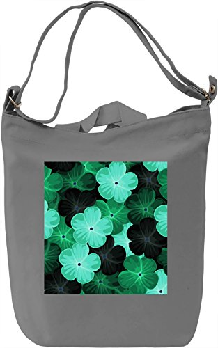 Flowers Abstract Print Borsa Giornaliera Canvas Canvas Day Bag| 100% Premium Cotton Canvas| DTG Printing|