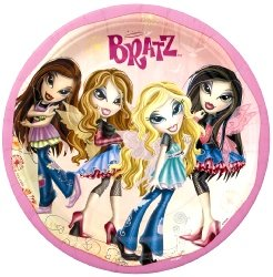 Unique Bratz 'Fashion Pixiez' Large Paper Plates (8ct)
