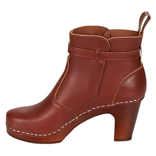 Swedish Hasbeens Women's High Heeled Jodhpur Ankle Boots Brown (Cognac/Cognac Sole) 3hPQ5