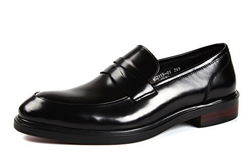 Leather Mens Business Leather Business Santimon Shoes Genuine Genuine Black Santimon Shoes Mens qq6n81