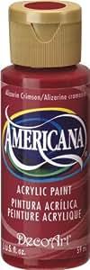 DecoArt Americana Acrylic Paint, 2-Ounce, Alizarin Crimson