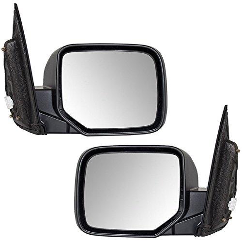 09-13 Pilot Power Heat Manual Folding Rear View Mirror Left Right Side SET PAIR