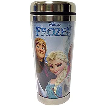 Westland Giftware Stainless Steel and Acrylic Travel Mug, Frozen, 16 oz., Multicolor